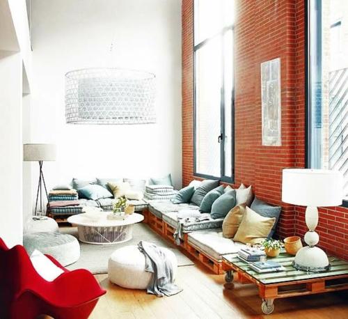 Niedrige Möbel möbel aus holz paletten 46 einzigartige tipps für sie