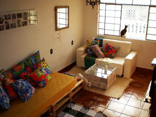 möbel holzpaletten wohnzimmer traditionell design idee
