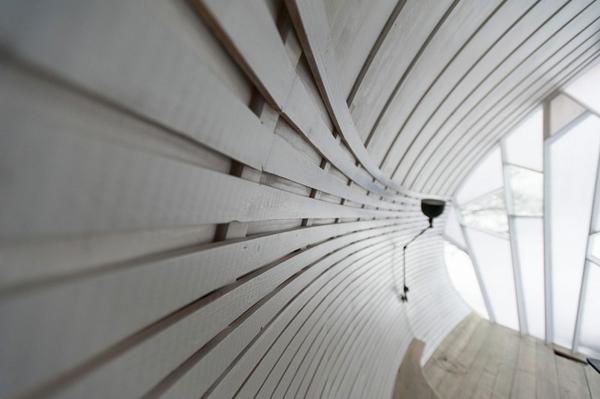 magisches haus design attraktive architektur rücken holz platten