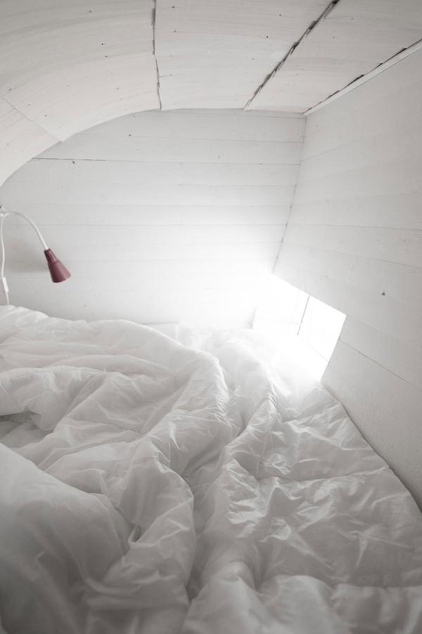 magisches haus design attraktive architektur schlafecke weiß