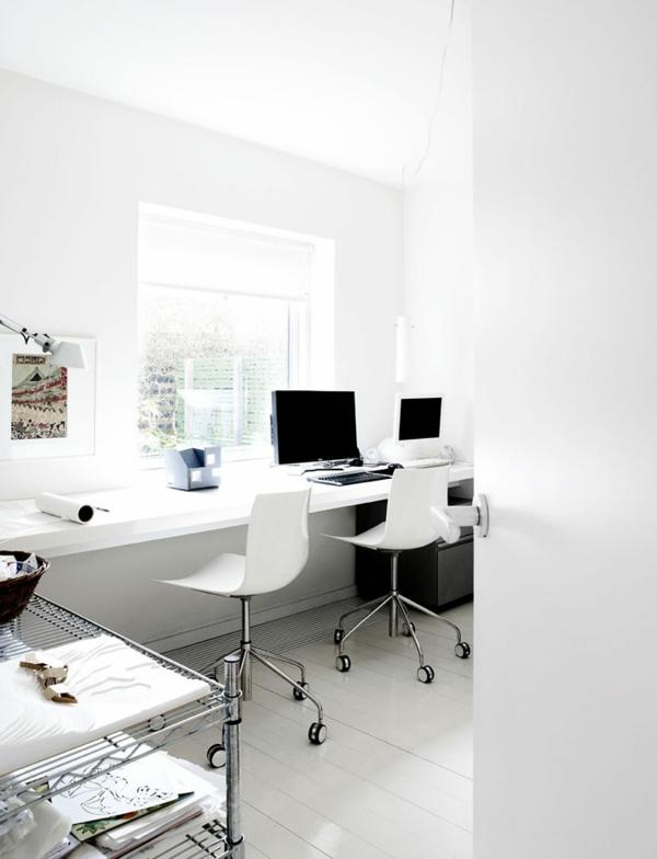 minimalistisch gestaltete sommer residenz homeoffice design