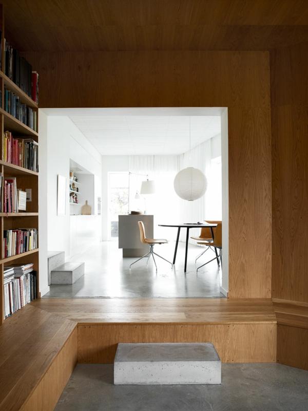 minimalistisch gestaltetes sommer residenz schlicht holz belag