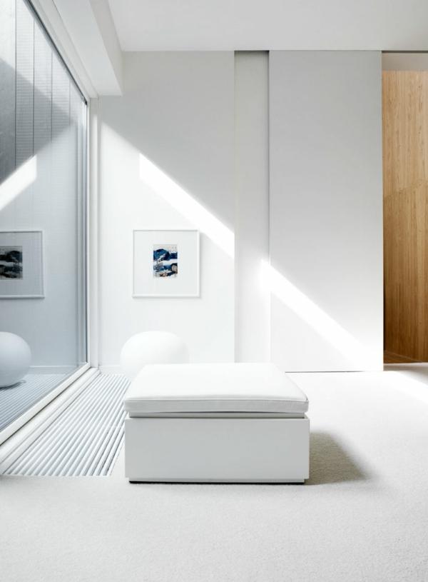 minimalistisch gestaltetes sommer residenz weiß ausstattung