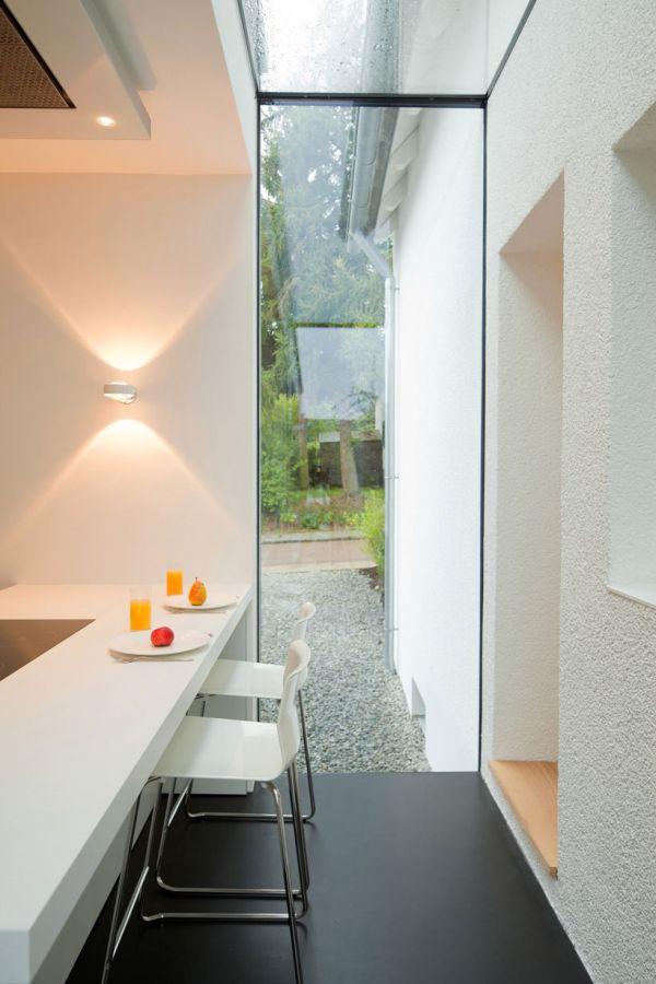 modernehaus erweiterung esszimmer küchenbereich extravagant schlicht