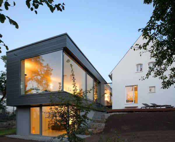 Moderne Haus Erweiterung - Umbau von traditionellem ...