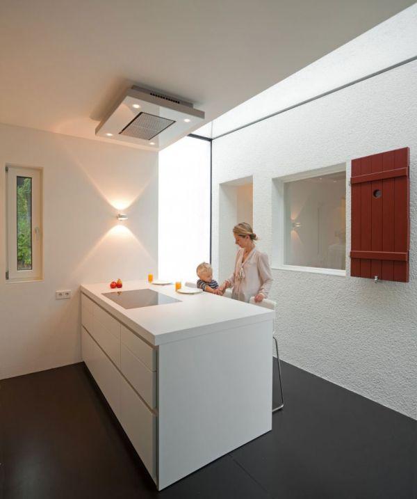 moderne haus erweiterung küche grundriss weiß oberfläche