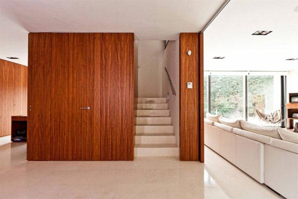 moderne holz residenz spanien treppenhaus killer