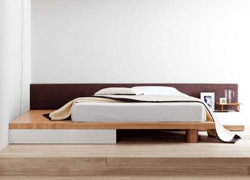 10 moderne sch ne betten designer einrichtung im for Graues holzbett