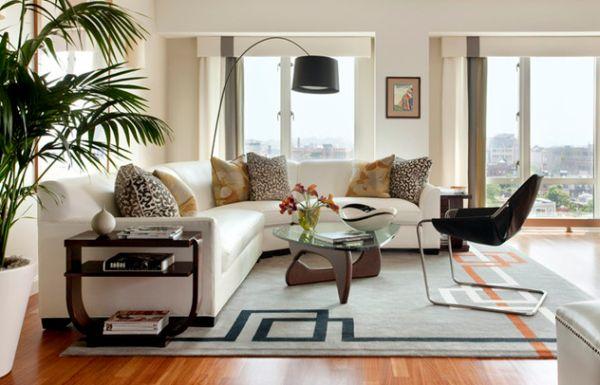 Moderne Stehlampe Designs Idee Schwarz Lampenschirm Wohnzimmer