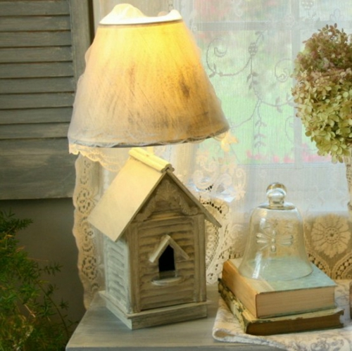 Vintage frischer Zimmer Garten gießkanne sitzbank kissen holz häuschen dekorativ