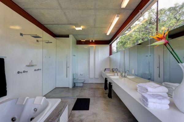 elegantes cooles brasilianisches haus badezimmer waschbecken