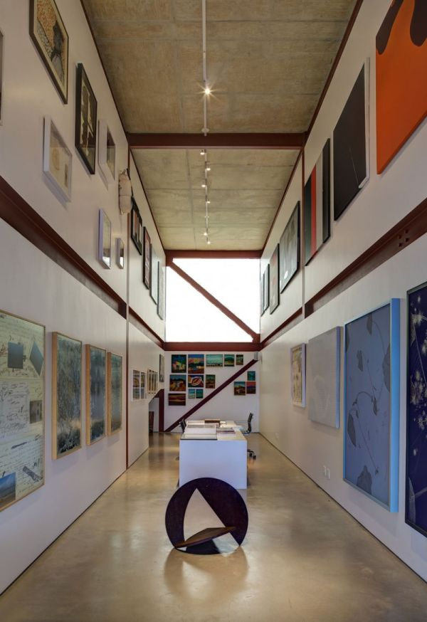 modernes brasilianisches haus bilder galerie wände atelier