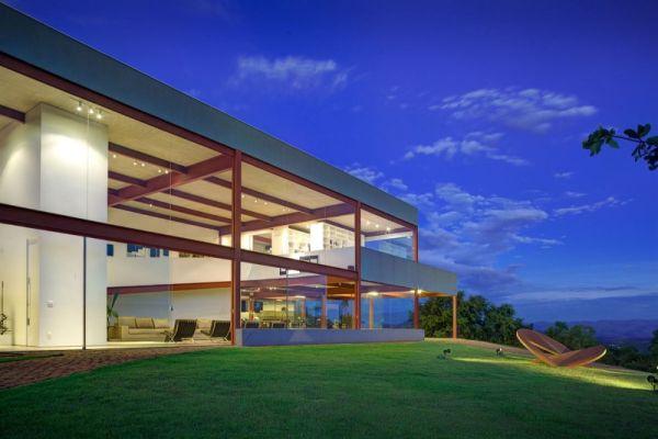modernes brasilianisches haus fassade architektur außenbereich