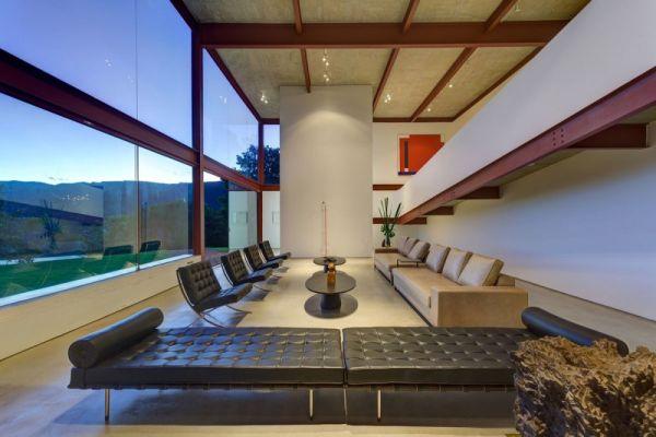 modernes brasilianisches haus leder sofa sessel tisch
