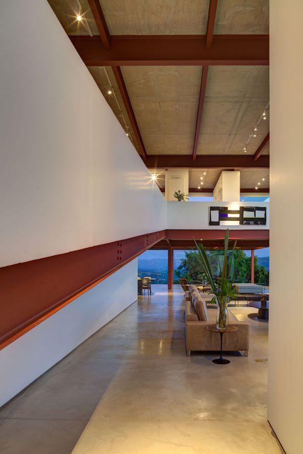 modernes brasilianisches haus wände minimalistisch sofa beistelltisch
