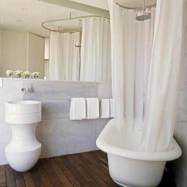 modernes funktionales hotel französsisch neoklassisch badewanne