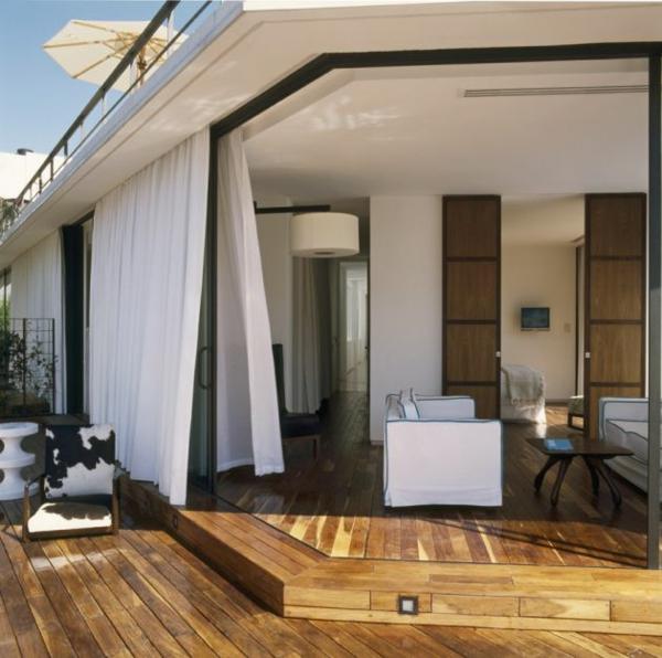 modernes funktionales hotel französsisch neoklassisch holz bodenbelag