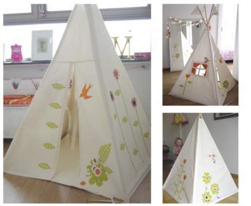 niedliches tipi indianer zelt im spielraum ihrer kinder. Black Bedroom Furniture Sets. Home Design Ideas