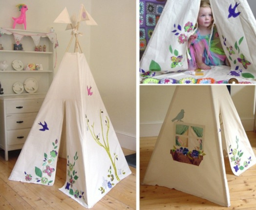 niedliches tipi indianer zelt im spielraum ihrer kinder von moozle. Black Bedroom Furniture Sets. Home Design Ideas