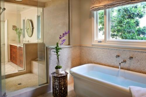 Orientalische Tisch Im Interior Design Badewanne Bad