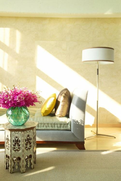 orientalische wandgestaltung schablonen: einrichtungsideen ... - Wohnzimmer Ideen Orientalisch