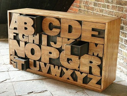 Originelle Interessante Kommoden Holz Buchstaben Kent London