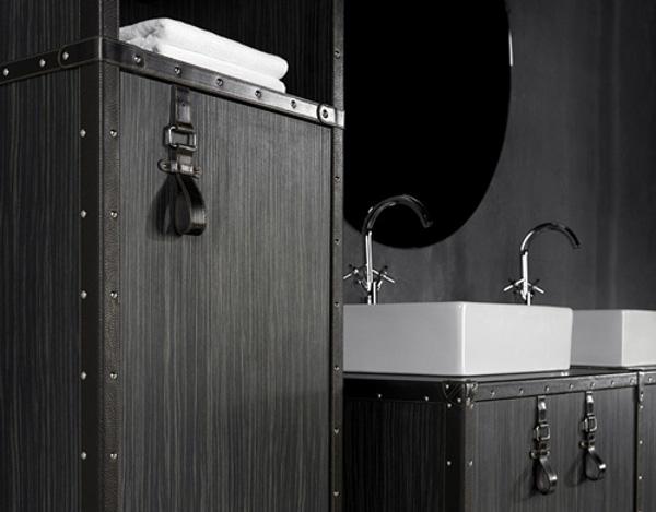 originelle badezimmer deko designer lösung dunkle oberfläche