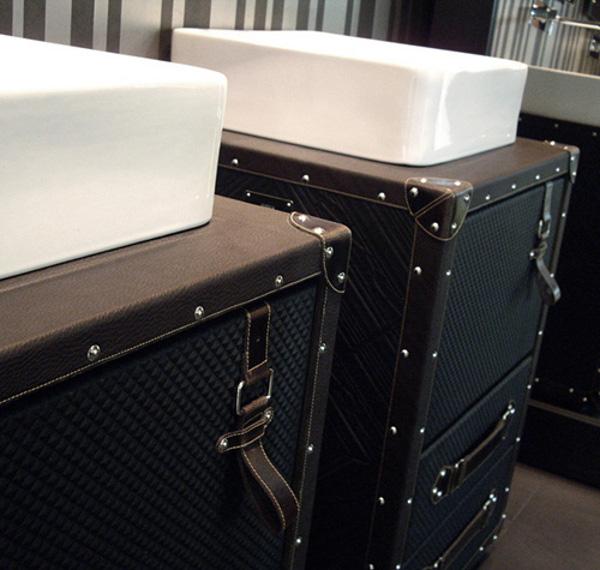 originelle badezimmer deko designer lösung koffer