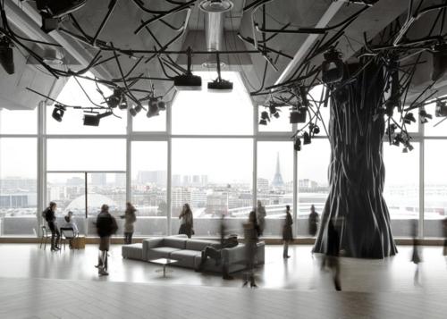 originelle licht projektoren design baum bar beleuchtung
