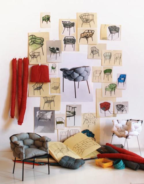 origineller outdoor stuhl metall kissen vorführen kollektion
