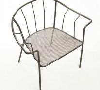Origineller outdoor stuhl serpentine von el onore nalet for Design stuhl gitter