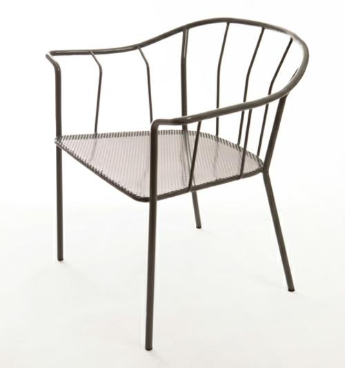 origineller outdoor stuhl metall struktur stabil sachlich