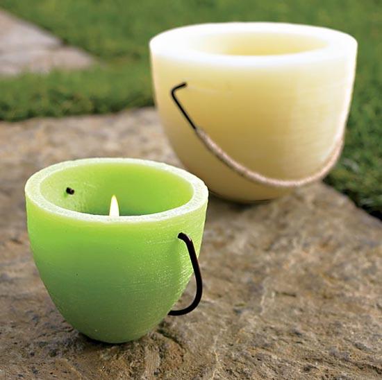 outdoor Party Accessoires aromatische kerzen zitronen