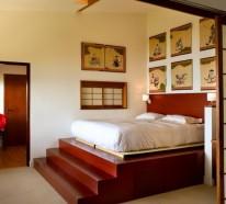 Plattform Betten mit Fächern ausgestattet – Aufbewahrung Ideen
