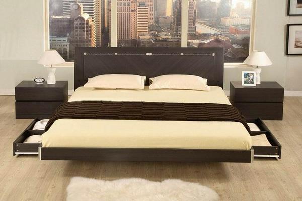 plattform betten mit f chern ausgestattet aufbewahrung ideen. Black Bedroom Furniture Sets. Home Design Ideas