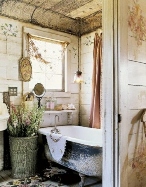 rustikale badezimmer design ideen badewanne damalig