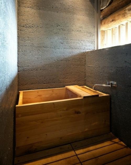 rustikale badezimmer design ideen badewanne minimalistisch holz - Badezimmer Holz