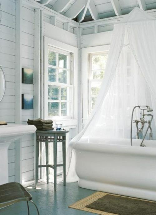 badezimmer design ideen badewanne weiß pur einrichtung