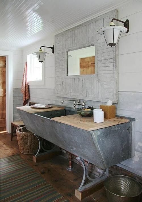rustikale badezimmer design ideen massive linien gestalten