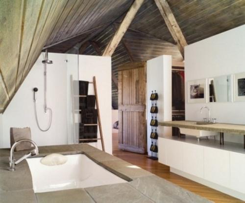 rustikale badezimmer design ideen waschbecken lampen