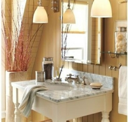 35 rustikale badezimmer design ideen l ndlicher scheunen for Badezimmer lampen ideen