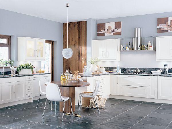 schöne küchen farbpalette weiß schwarz zeitgenössisch essbereich