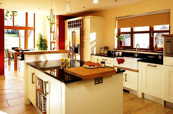 schöne küchen farbpalette wohnlich geräumig design holz traditionell
