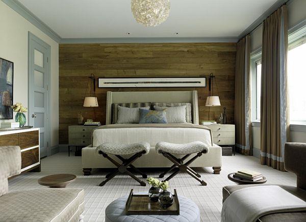 schöne wandgestaltung ideen schlafzimmer holz bekleidung