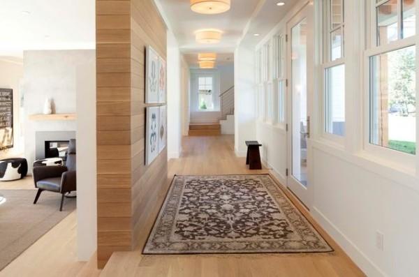 schöne wandgestaltung ideen teppich orientalisch flur durchgang