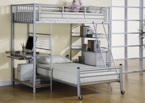 Etagenbett Weiß Metall : Schönes metall hochbett im kinderzimmer von letti cosatto