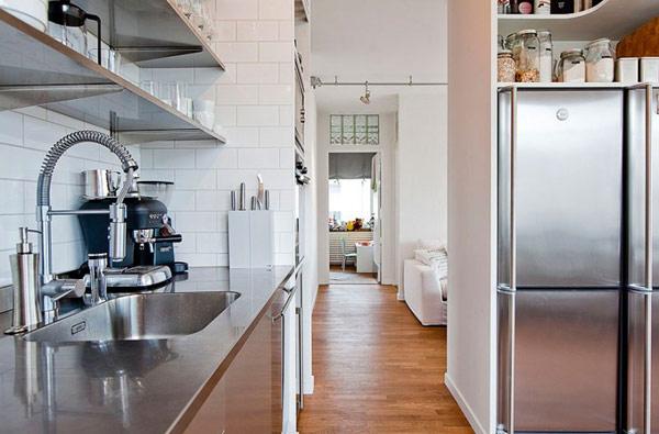 schönes modernes dach apartment arbeitsplatte küche spüle