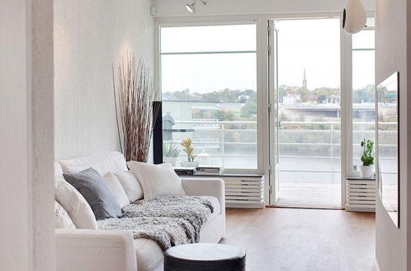 schönes modernes dach apartment fenster terrasse