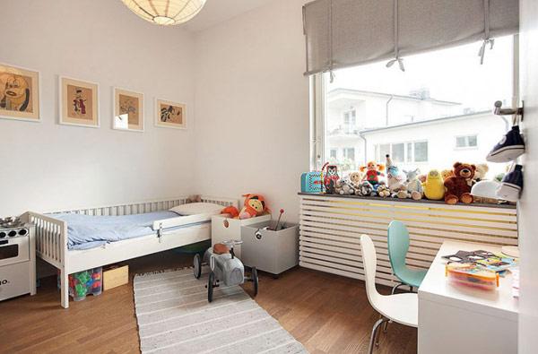 schönes modernes dach apartment kinderzimmer gitter rahmen bett