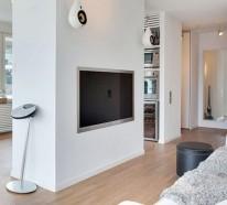 Schönes modernes Dach Apartment in Stockholm platziert